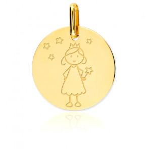 Médaille Fée étoilée, Or jaune 9K - Lucas Lucor