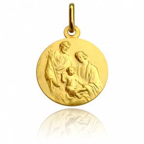 Médaille Sainte Famille, Or jaune 9K- Pichard-Balme