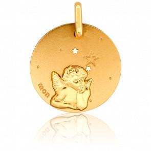 Médaille Ange aux Etoiles, Or jaune 18K - Pichard Balme