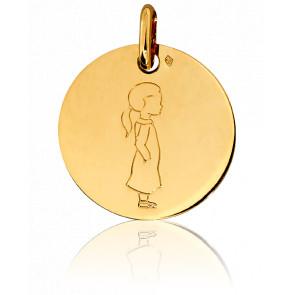 Médaille Ma Petite Chérie, Or jaune 18K - Pichard-Balme