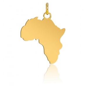 Pendentif Afrique 17 x 19 mm, Or Jaune 18K - Lucas Lucor