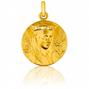 Médaille Vierge couronnée, Or jaune 18K - Pichard-Balme