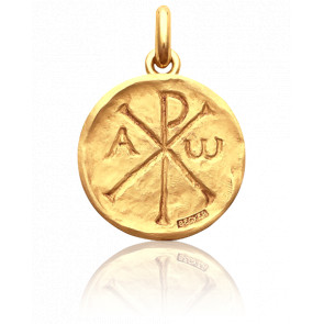 Médaille Chrisme, Or jaune 18K - Becker