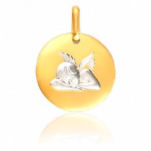 Médaille Ange assoupi, 2 Ors 18K - Lucas Lucor