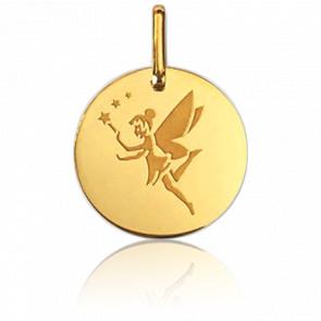Médaille Fée Aux Etoiles Or Jaune 18K  - Lucas Lucor
