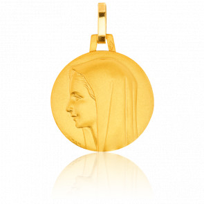 Médaille Vierge profil gauche, Or jaune 18K - Pichard-Balme