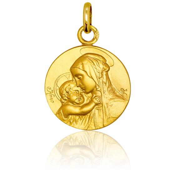 Médaille Vierge Maternité, Or jaune 18K - Pichard-Balme