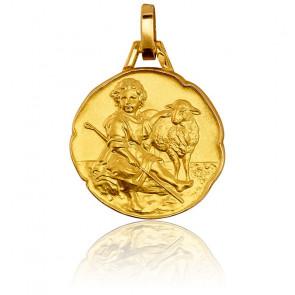 Médaille enfant Jésus Berger, Or jaune 18K - Pichard-Balme