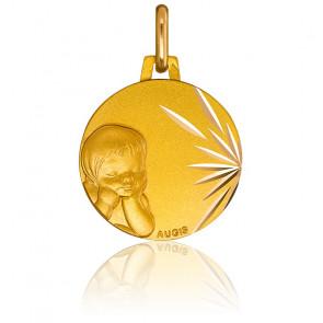 Médaille enfant rêveur, Or jaune 18K - Augis