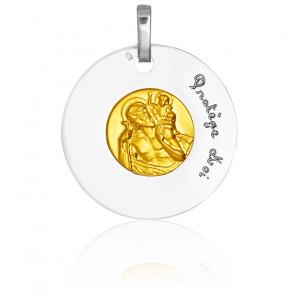 Médaille Saint Christophe, 2 Ors 18K - Pichard-Balme