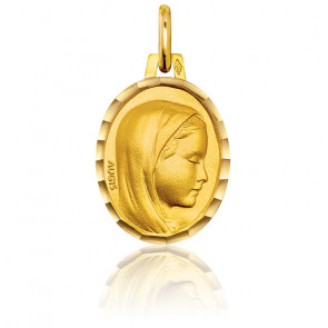 Médaille Vierge de profil droit, Or jaune 18K - Augis