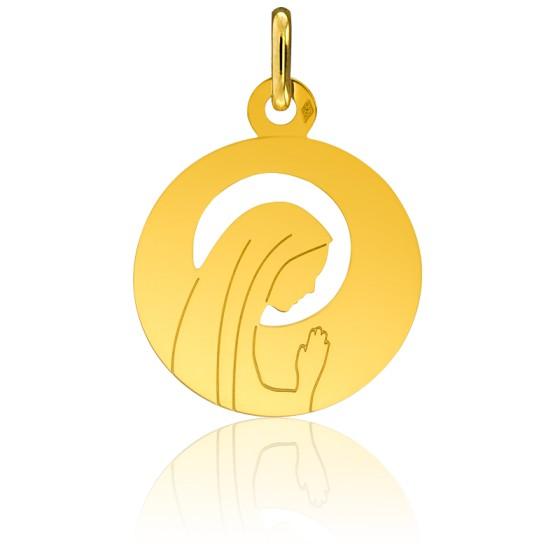 Médaille Vierge Auréolée, ajourée, Or jaune 18K - Pichard-Balme