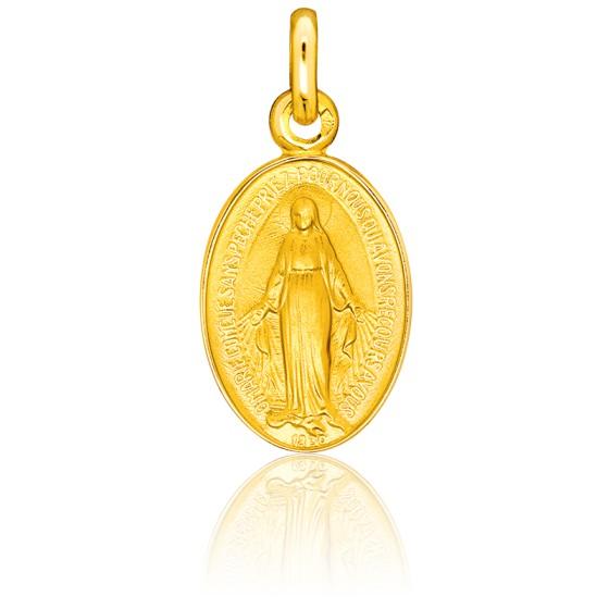 Médaille Miraculeuse, réversible, Or jaune 18K - Pichard-Balme