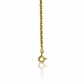 Chaîne maille forçat diamantée, Or jaune 9 carats, 45 cm