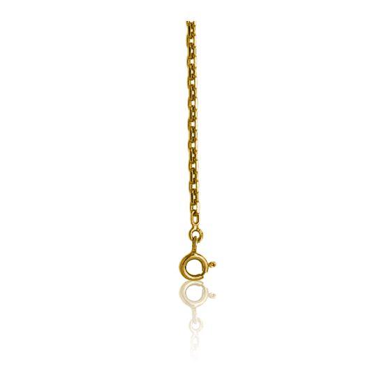 Chaîne maille forçat diamantée, Or jaune 9 carats, 55 cm