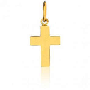Pendentif Croix, plat, Or jaune 18K - Emanessence