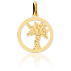 Médaille Arbre de Vie, Or jaune 9 carats - Lucas Lucor