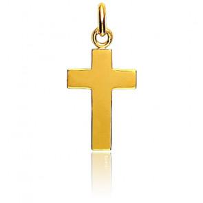 Croix plate, Or jaune 18 carats