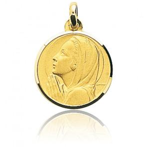 Médaille Vierge en prière, Or jaune 9 ou 18K - Emanessence