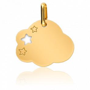 Médaille Nuage & Etoiles Or Jaune - Lucas Lucor