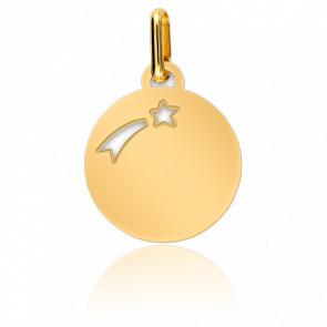 Médaille étoile filante, Or jaune 9 ou 18K - Lucas Lucor