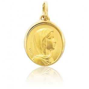 Médaille Sainte Vierge, Or jaune 9K ou 18K - Emanessence