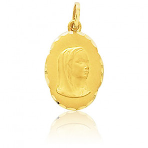 Médaille Vierge, facettée, Or jaune 9 ou 18K - Emanessence