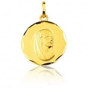 Médaille Vierge Marie, Or jaune 9 carats - Emanessence