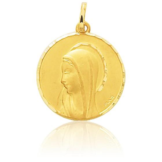 Médaille de la Vierge, Or jaune 9K ou 18K - Emanessence