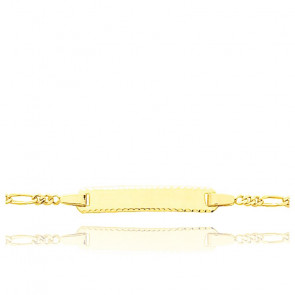 Gourmette maille cheval triple, Or jaune 9 ou 18K - Bambins