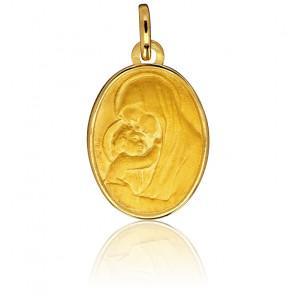 Médaille Vierge à l'Enfant, Or jaune 9 ou 18K - Emanessence