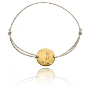Bracelet gris Petit Prince Planète, Or Jaune 18K - Monnaie de Paris