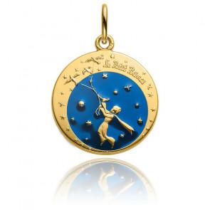 Médaille Petit Prince et les oiseaux en couleur, Or jaune 18K - Monnaie de Paris