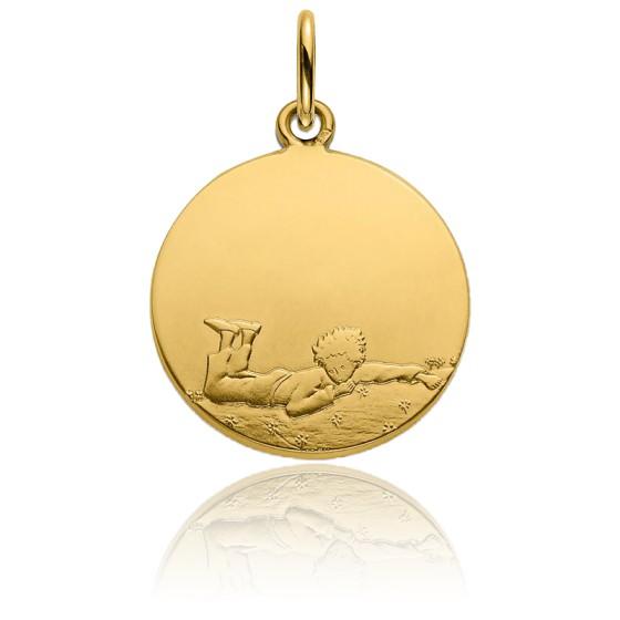 Médaille Petit Prince couché dans l'herbe, Or Jaune 18K - Monnaie de Paris