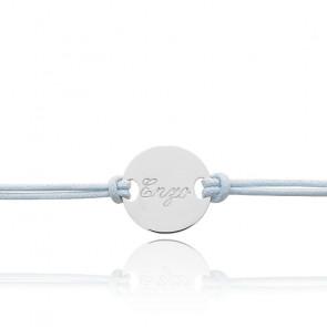Bracelet cordon personnalisable, or blanc 9 ou 18K - Bambins