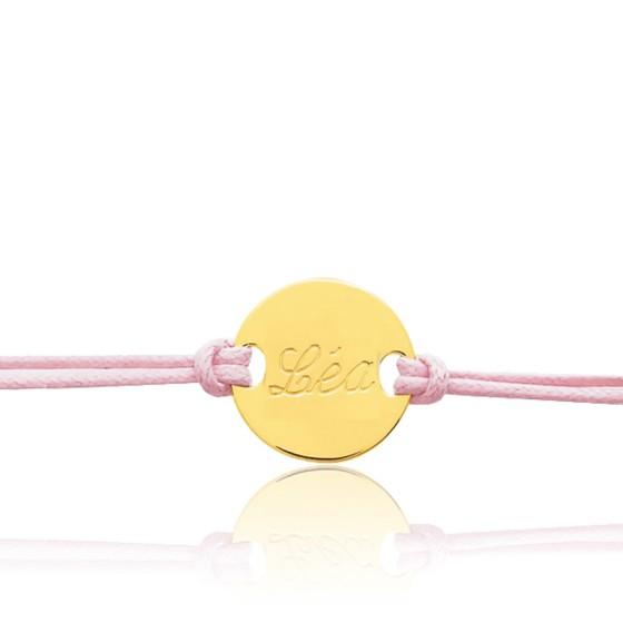 Bracelet cordon personnalisé, Or jaune 9 ou 18K - Bambins