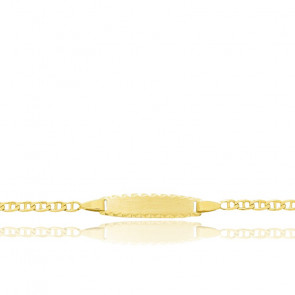 Gourmette maille marine, Or jaune 18 carats - Bambins