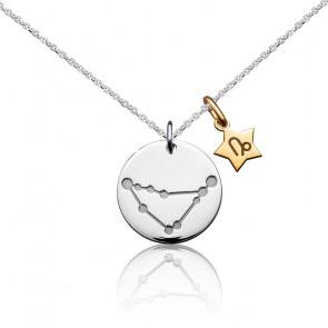 Collier Signe Zodiaque Capricorne, Argent & Plaqué Or - Argyor