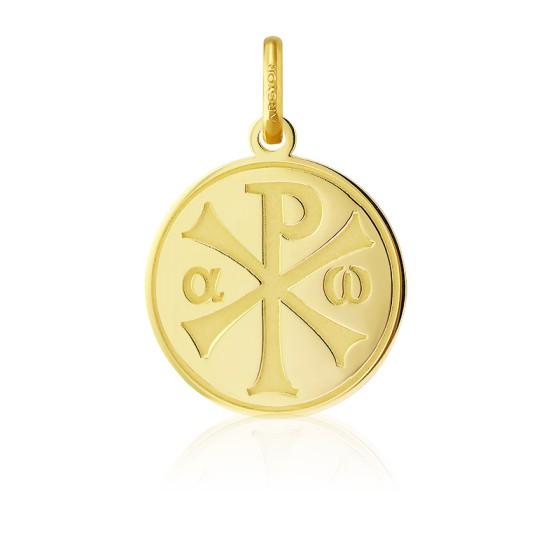 Médaille Chrisme finition polie, Or jaune 18K - Argyor
