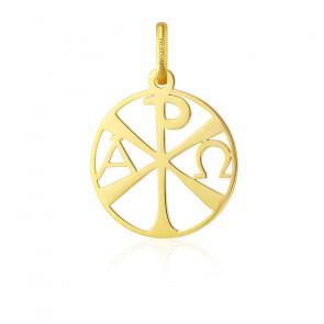 Médaille Chrisme ajourée, Or jaune 18 carats - Argyor
