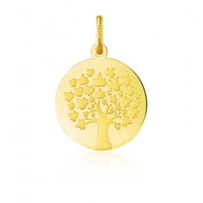 Pendentif Arbre de Vie feuilles d'érable, Or jaune 18K - Argyor