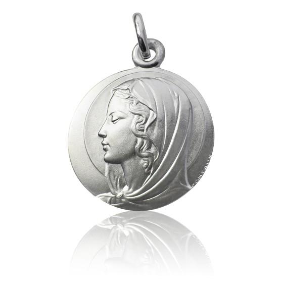 Médaille Vierge Contaux, Argent massif 925/1000 - Martineau