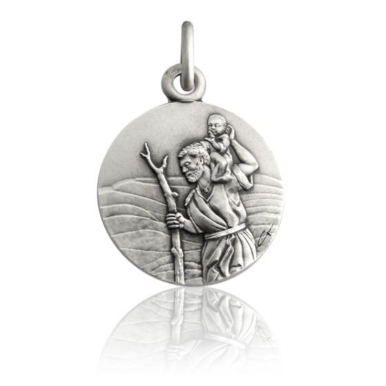 Médaille ronde de Saint Christophe, Argent - Martineau