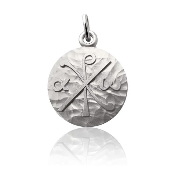 Médaille Chrisme Martelé, Argent massif - Martineau