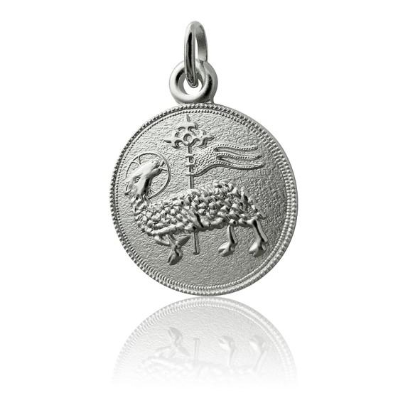 Médaille Agneau de Dieu, Argent massif - Martineau