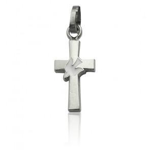 Pendentif croix colombe, Argent - Martineau