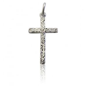 Pendentif croix pépite, Argent - Martineau