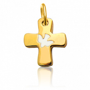 Croix à la colombe, Or jaune 18 carats - Martineau