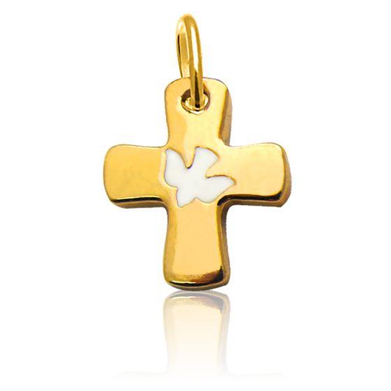 Saint-esprit Or jaune 14/K Colombe Pendentif