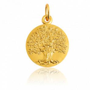 Médaille Arbre de Vie majestueux, Or jaune 18K - Martineau